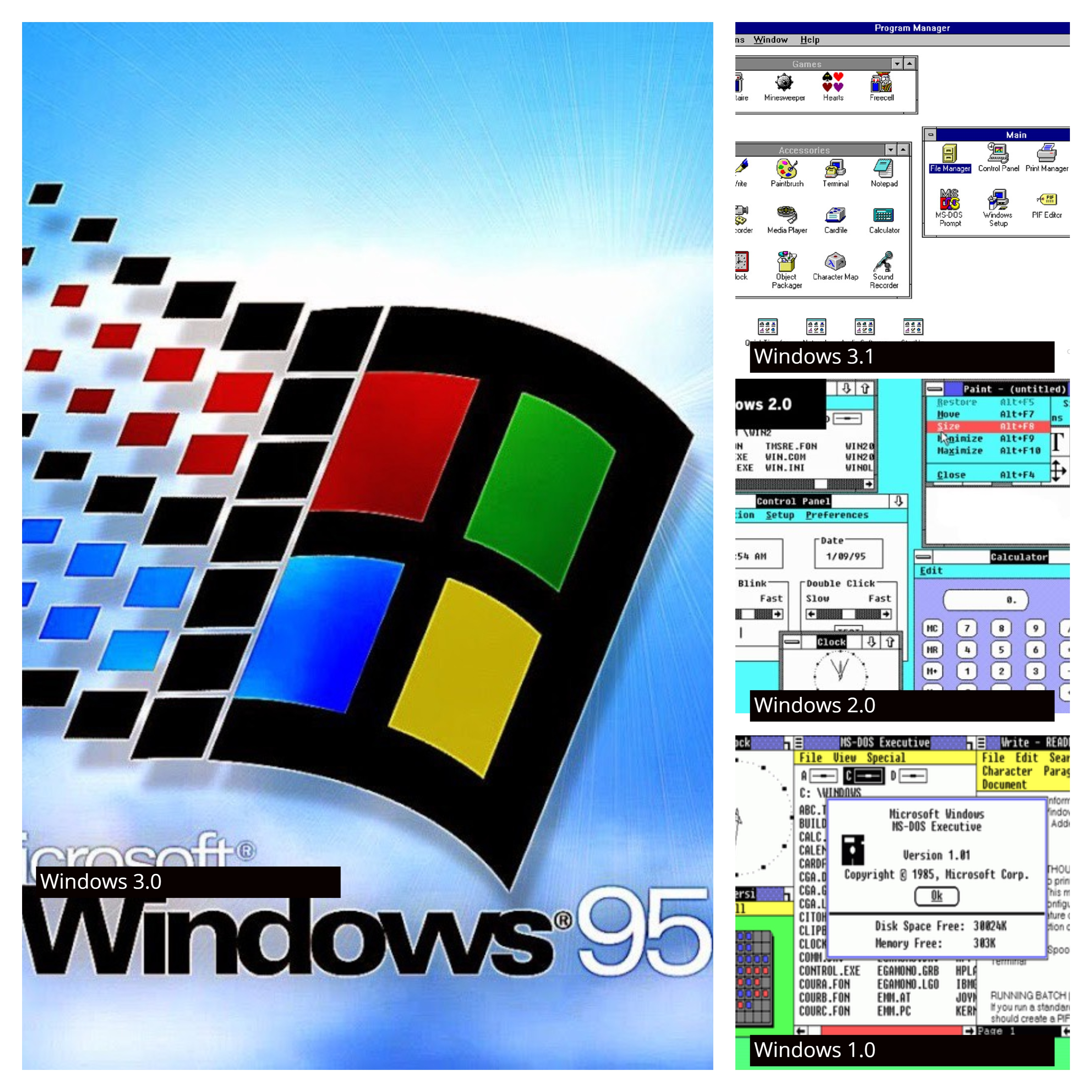 List of all Microsoft Windows versions from 1985 till date